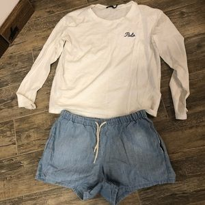 Polo Ralph Lauren top and shorts